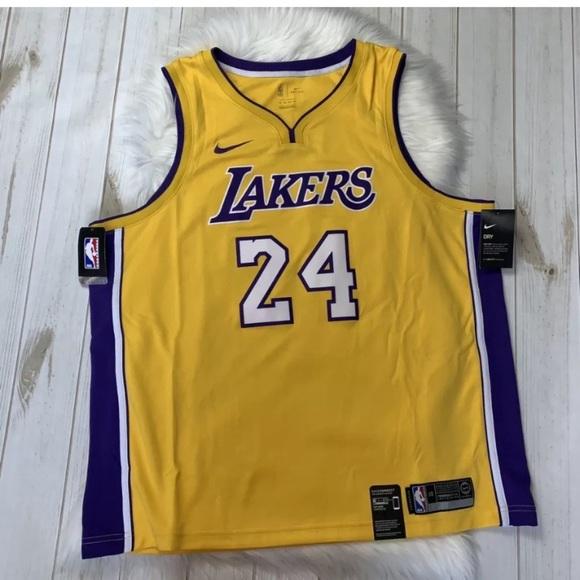 NIKE LAKERS DRI-FIT NBA Jersey 24 Kobe Bryant Auth